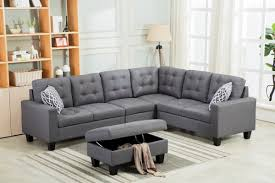 gray sectional with ottoman you ll love