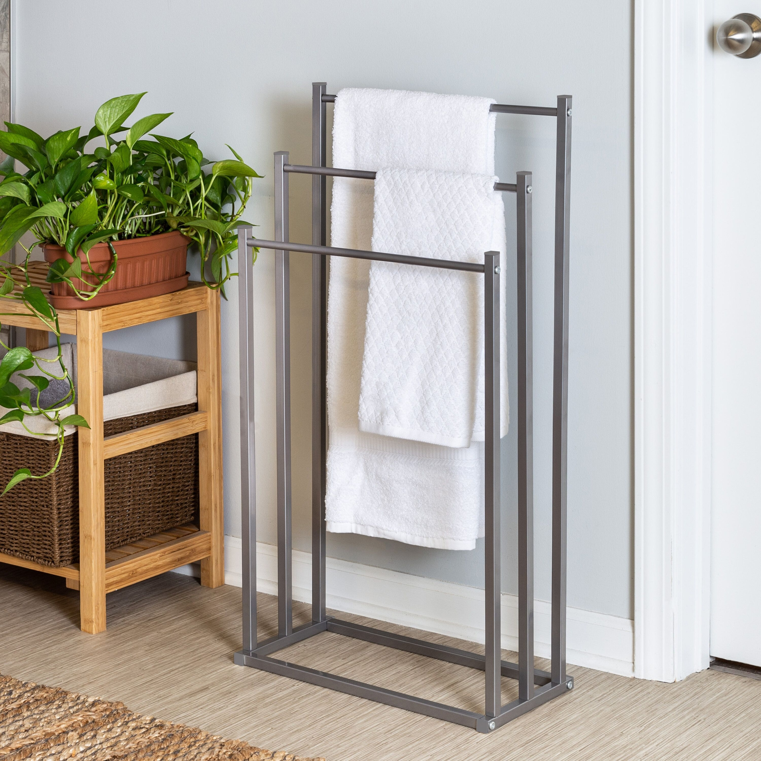 free standing towel rack you ll love in