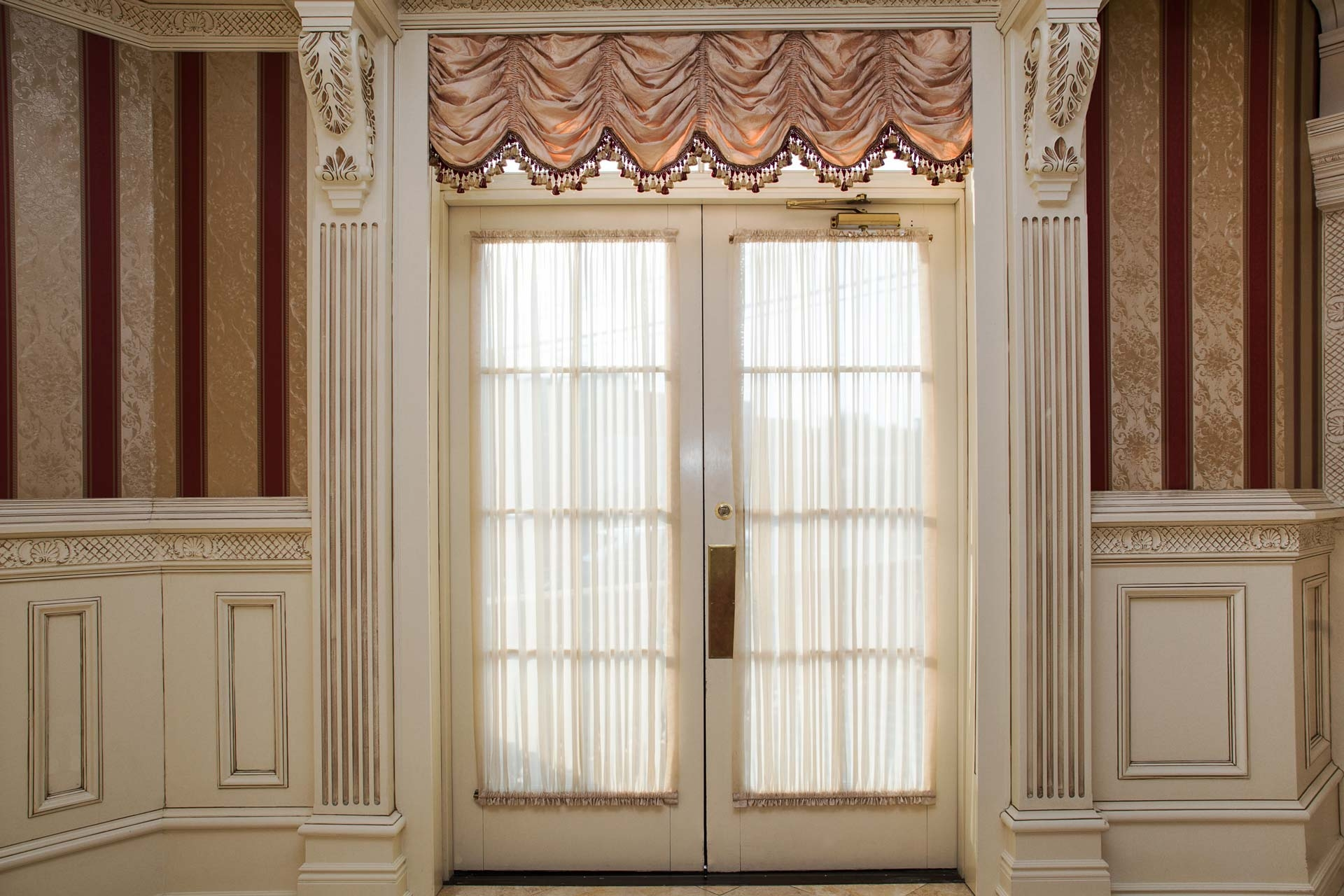 french door curtain rods you ll love in