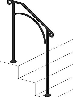50 Outdoor Metal Stair Railing Kits You Ll Love In 2020 Visual Hunt | Iron Handrails For Outside Steps | Railing Systems | Front Porch | Aluminum Railing | Deck Railing