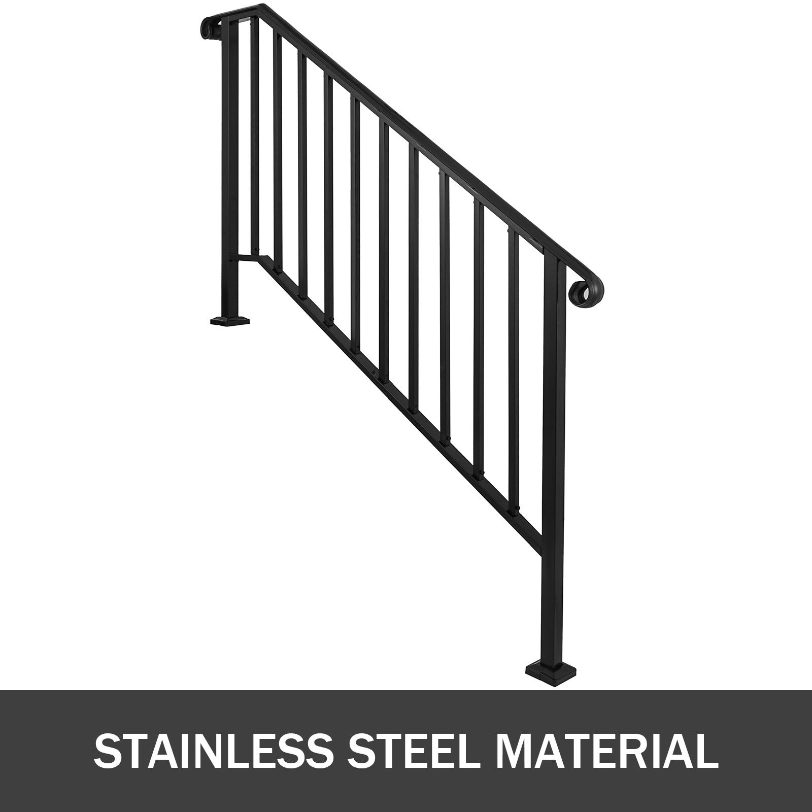 50 Outdoor Metal Stair Railing Kits You Ll Love In 2020 Visual Hunt | Iron Handrails For Outside Steps | Aluminum Railing | Railing Systems | Deck Railing | Front Porch