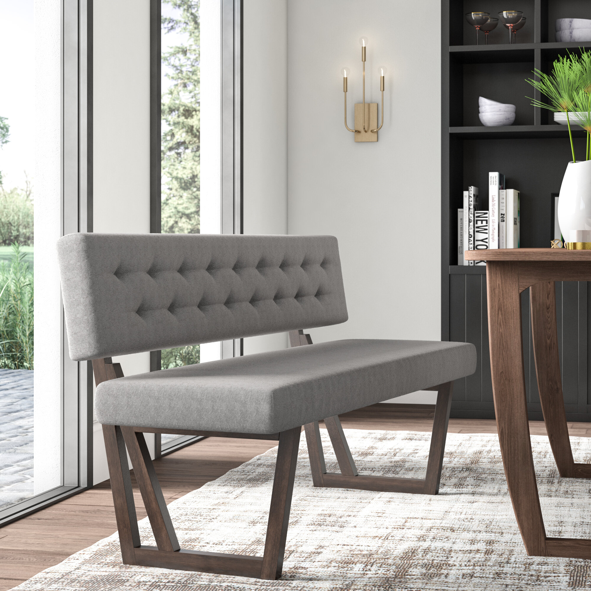 upholstered bench with back you ll love