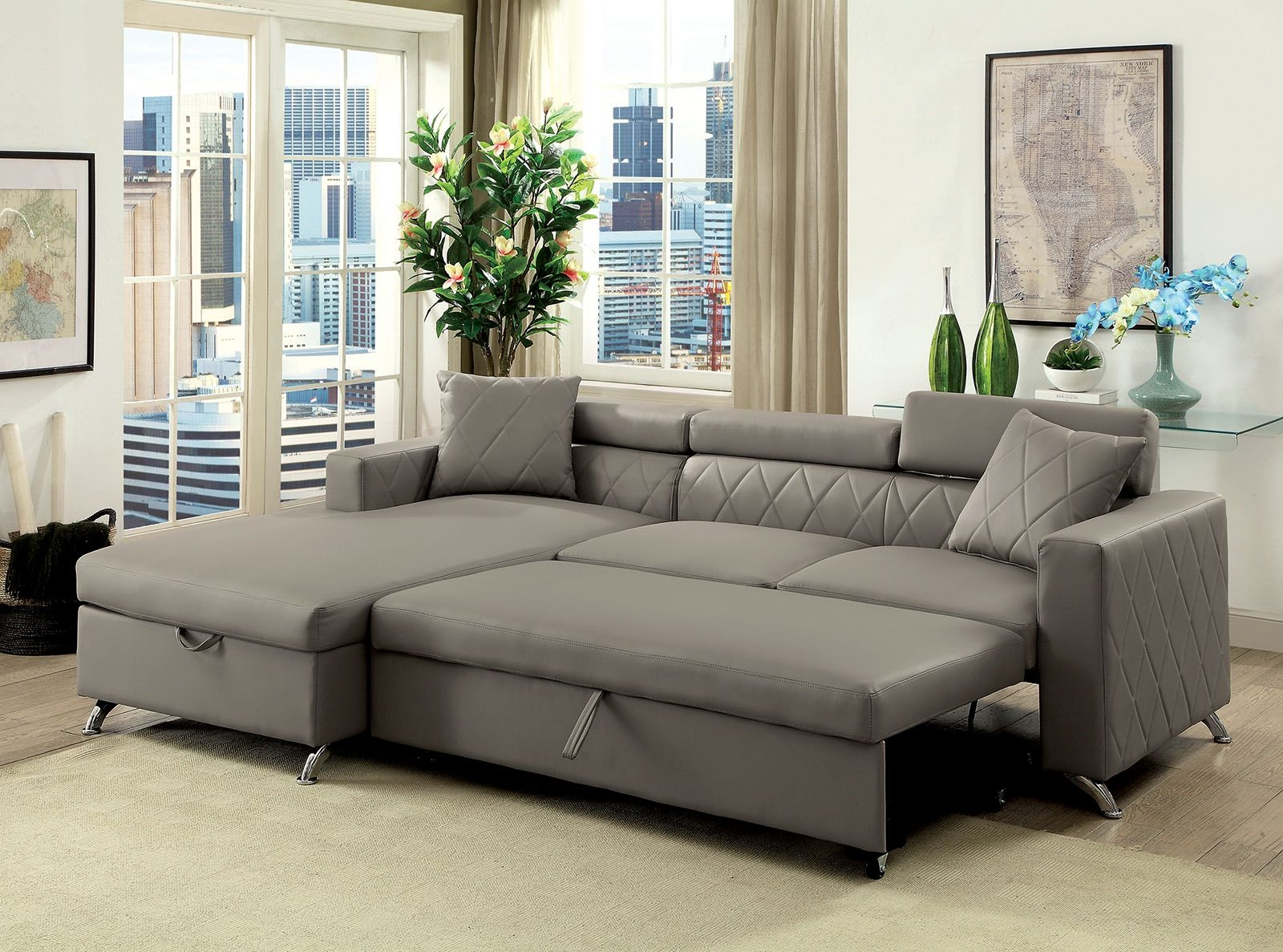sectional couch with pull out bed you