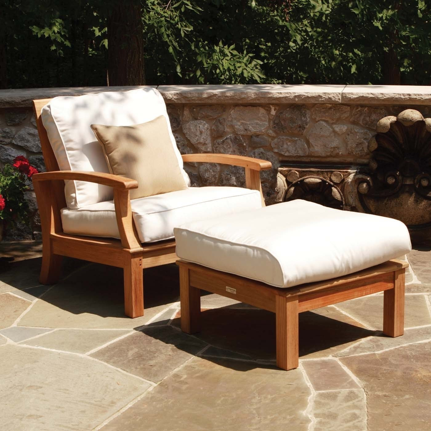 outdoor chairs with ottoman you ll love