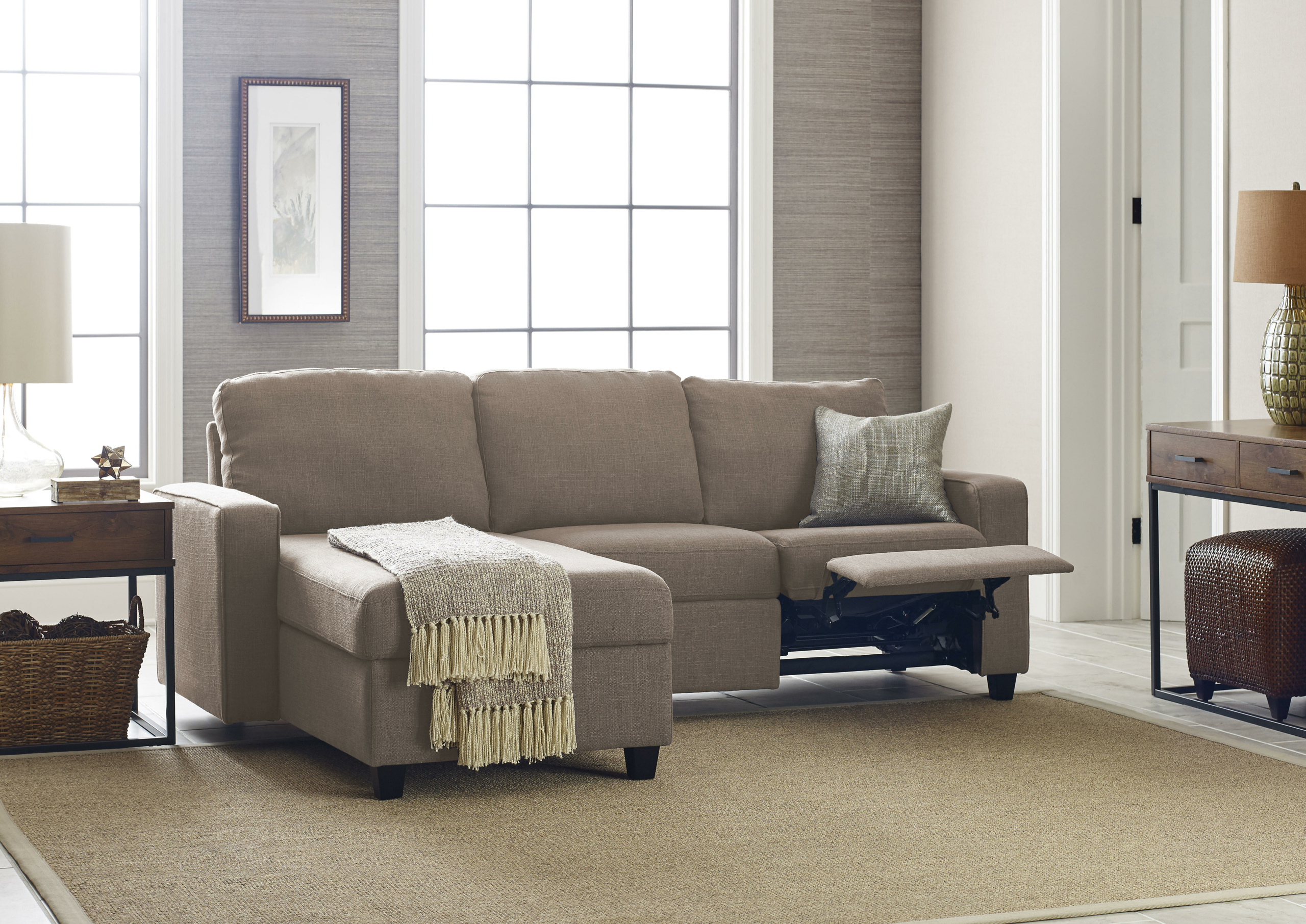 Small Sectional Sofa With Recliner You Ll Love In 2020 Visualhunt
