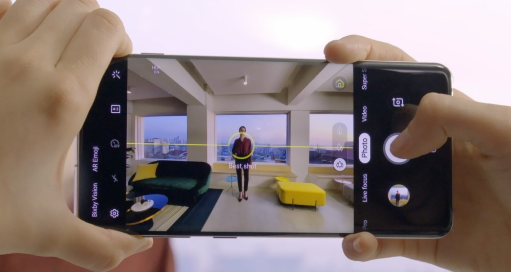 Samsung Galaxy S10 shot suggestion