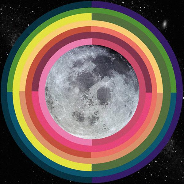 Full Moon January 2018 Lunar Eclipse Artwork by Sarah Faith Gottesdiener