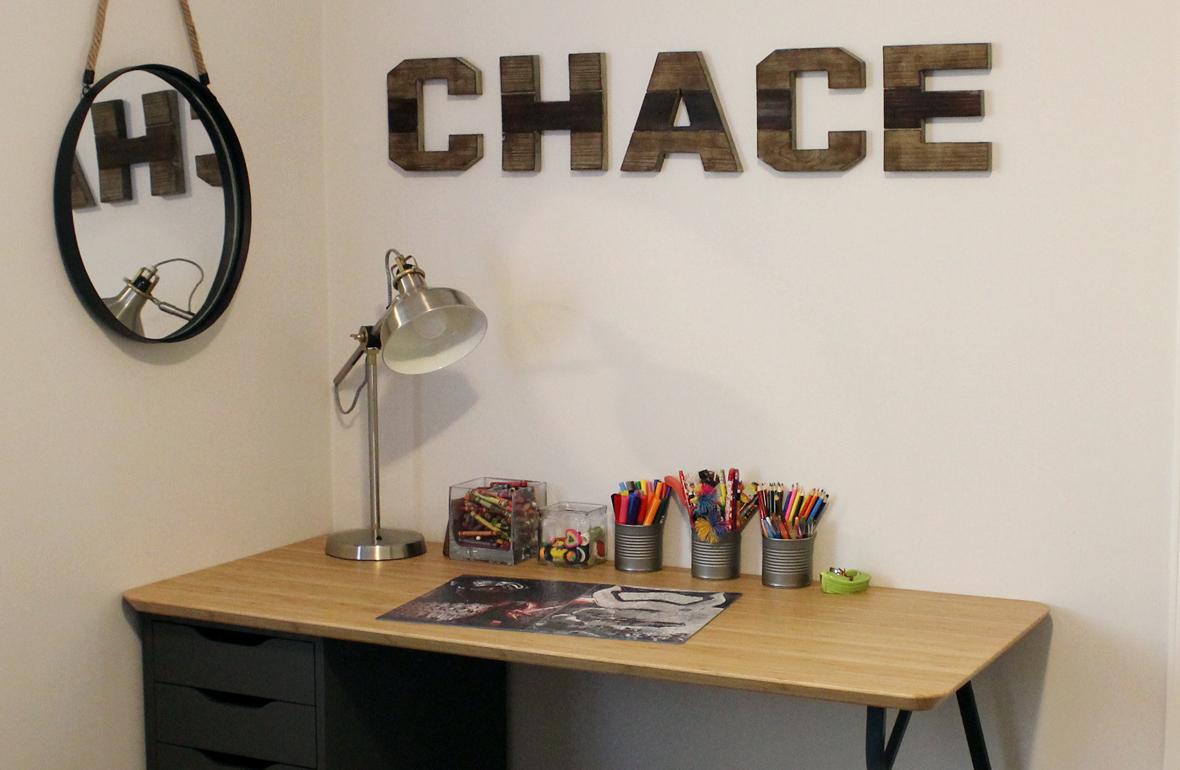 custom ikea desk