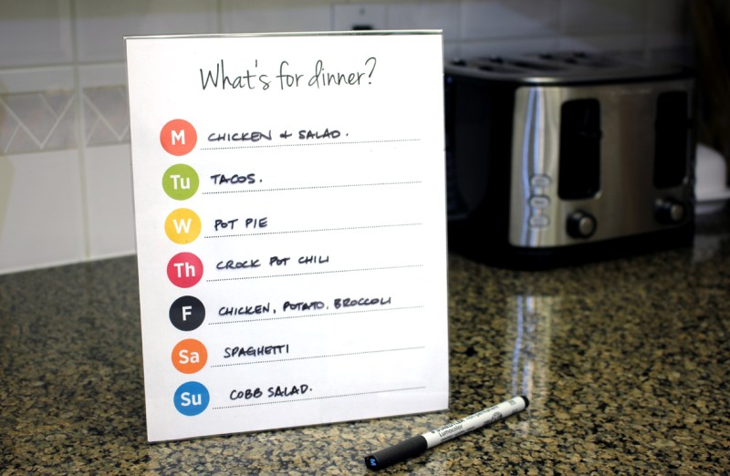 What's For Dinner Meal Planner Free Download