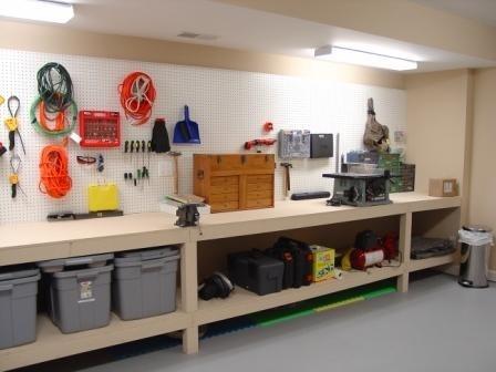 diy workbench garage