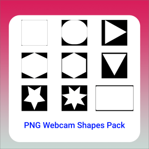 webcam shapes in triangle circle square star hexagon inverted triangle and more