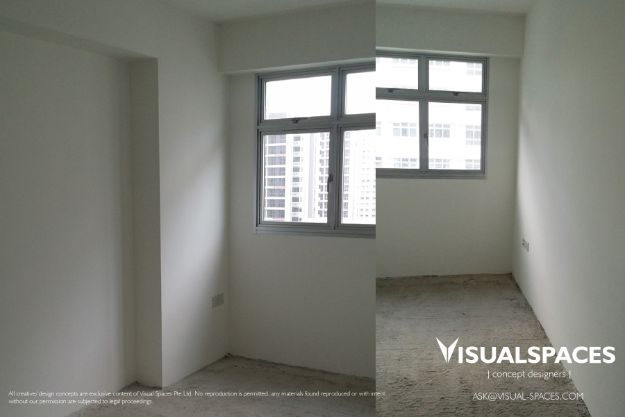 Bedroom before Design and Renovation - Punggol Walk by Visual Spaces