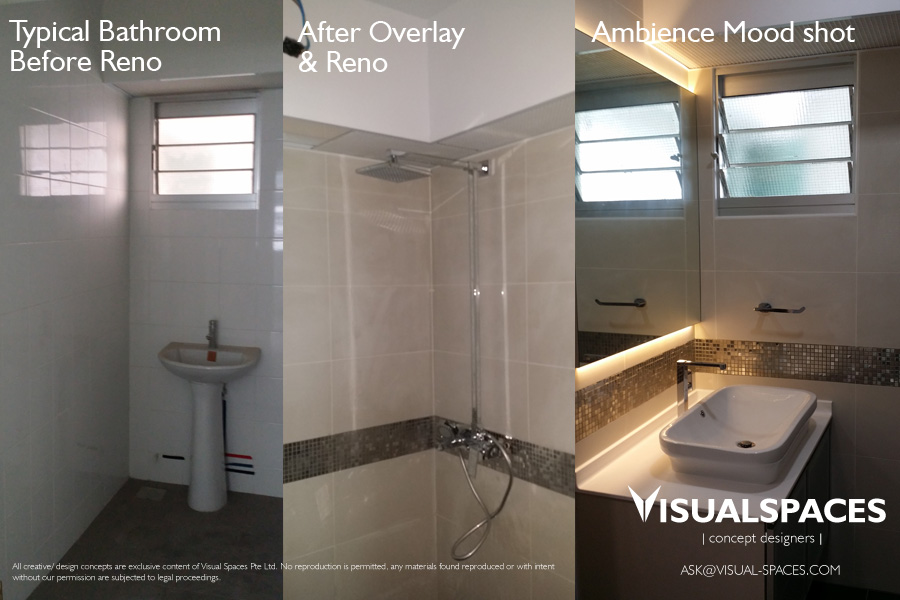 Common Bathroom Design and Renovation - Punggol Walk by Visual Spaces