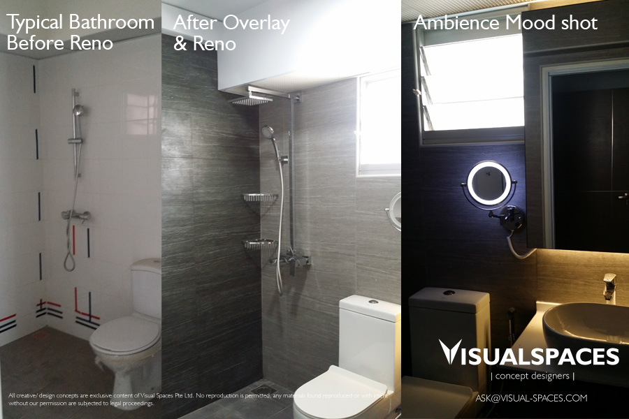 Master Bathroom Design and Renovation - Punggol Walk by Visual Spaces