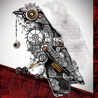 mechanical raven