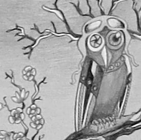 pilot owl and prunus