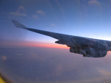Somewhere over the middle east