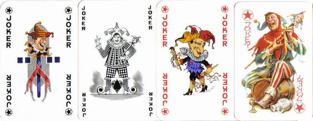 The stick can often be seen on Joker cards.