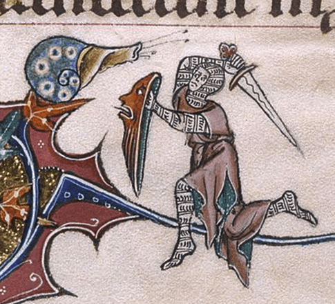 Medieval menagerie: the battle between knight and snail