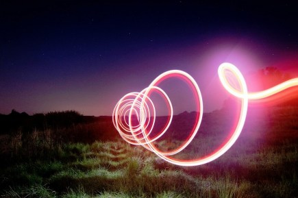 spiral light graffiti Light Painting Screw, by Karsten Knöfler, CC-BY-3.0 & GFDL license