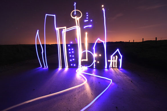 city light graffiti