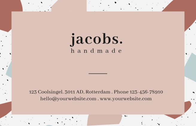 Horizontal_Terrazzo_Business_Card_001_Visual+Stories Design 1 Side 2 +