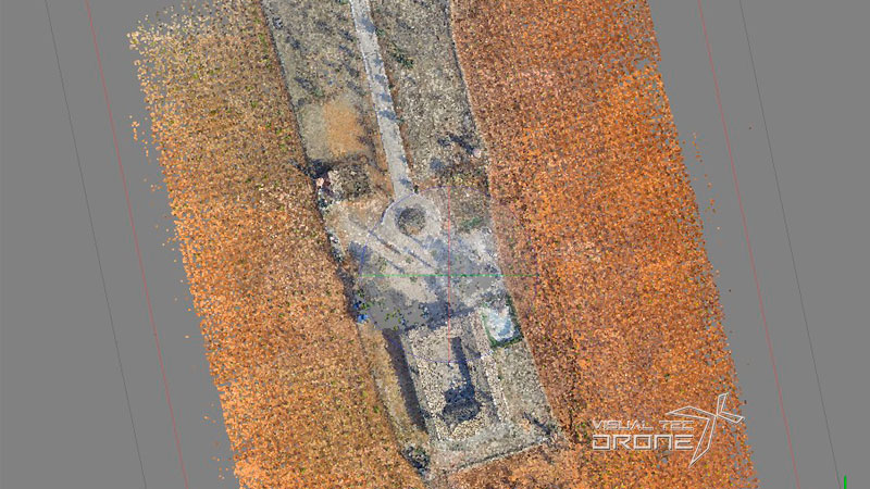 Fotogrametria ortofoto del terreno con drones.