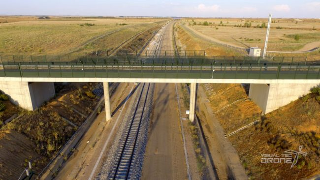 Obra civil, puentes de AVE visualtecdrone