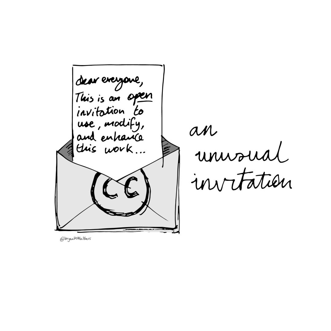 An unusual invitation