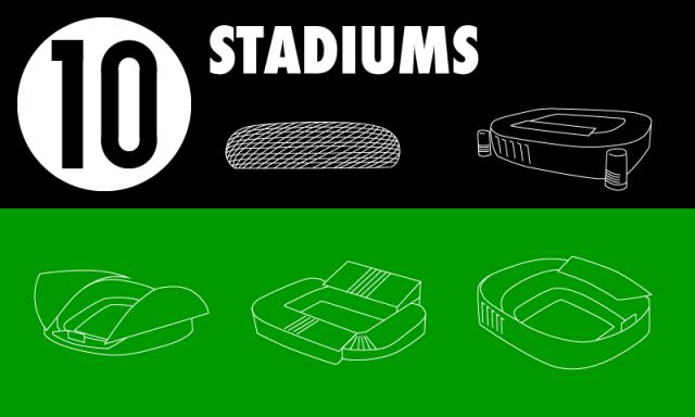 NewsPicks インフォグラフィック サッカー 欧州4大リーグ スタジアム 比較