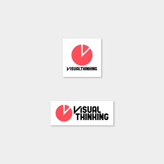 櫻田潤 ビジュアルシンキング ロゴ ステッカー