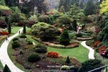 Butchart Gardens in Victoria on Vancouver Island, BC   Marsha J Black
