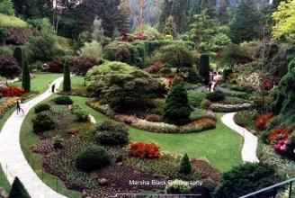Butchart Gardens in Victoria on Vancouver Island, BC | Marsha J Black