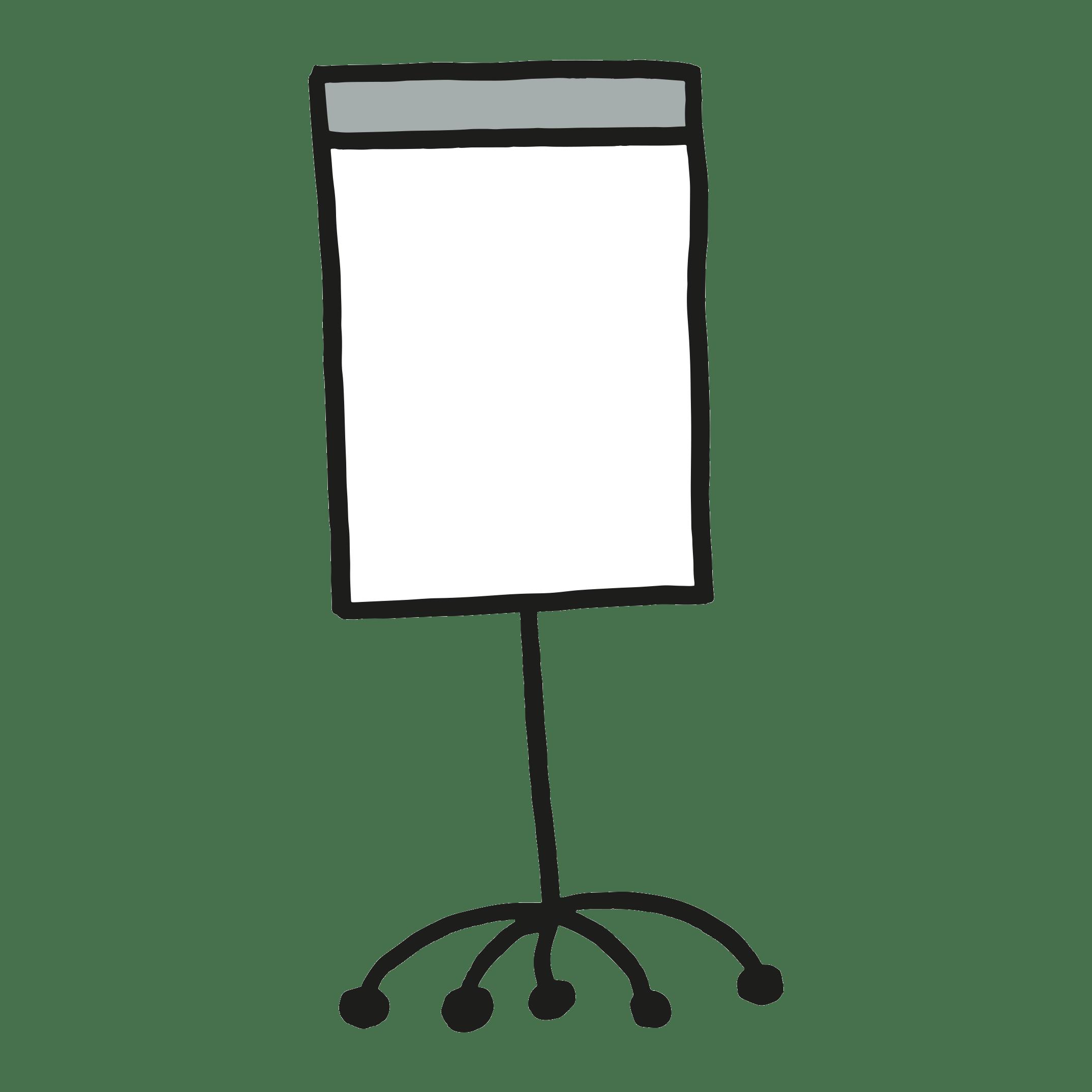 Flipchart gestalten, Gedanken und Ideen illustrieren