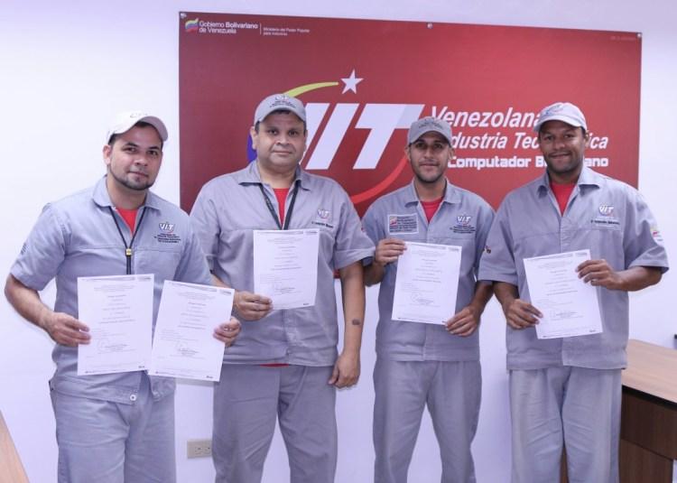 Trabajadores de VIT recibieron Certificación de Saberes por Inces Industrial