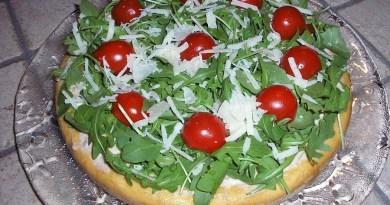 Torta Salata con Pomodorini e Rucola