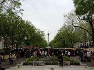 Large flea market and farmers market
