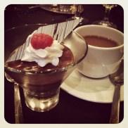 Vegan chocolate mousse at the TAFA banquet.
