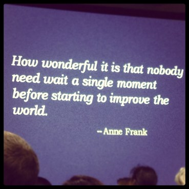 Anne Frank continually amazes me.