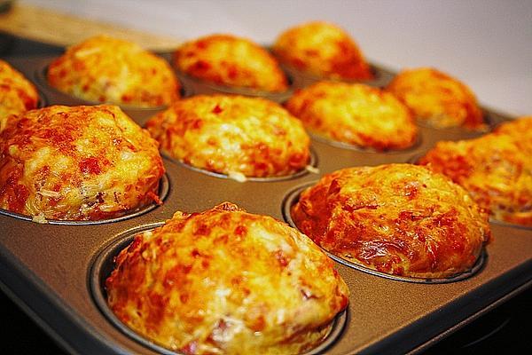 schnelles Abendessen, schnelles Essen, Abendessen Ideen, Abendessen Idee Eimuffins mit Schinken und Käse