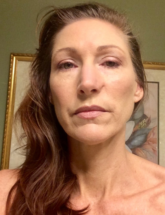 Face of fatigued woman image
