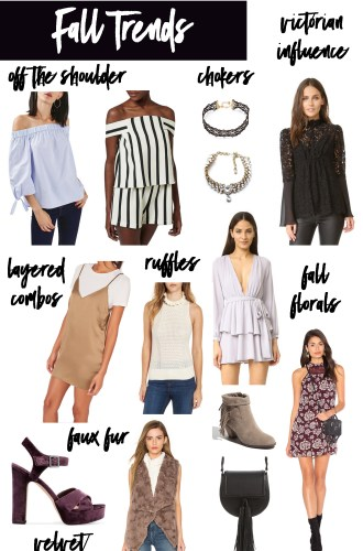 FAVORITE FALL TRENDS