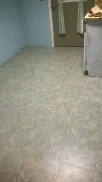 New Laundry Room Floor