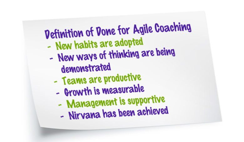 "What is the ""Exit Criteria"" for Agile Coaching?"