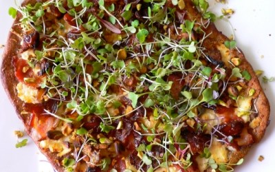PARMESAN AND RICOTTA MICROGREENS PIZZA