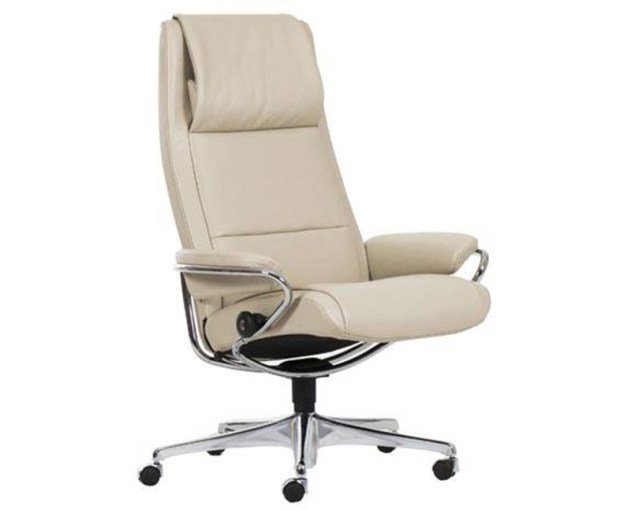 Ekornes Stressless Paris High Back Leather Office Desk Chair     Stressless Paris High Back Office Desk Recliner Chair by Ekornes