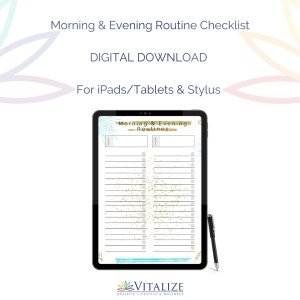 Morning and Evening Routine Checklist – DIGITAL DOWNLOAD (For iPads/Tablets & Stylus)