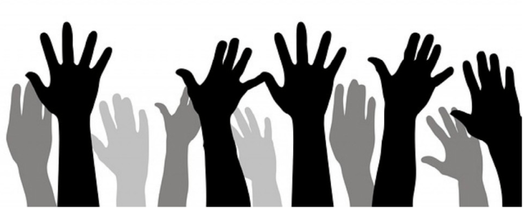 raise your hand and leave a voicemessage