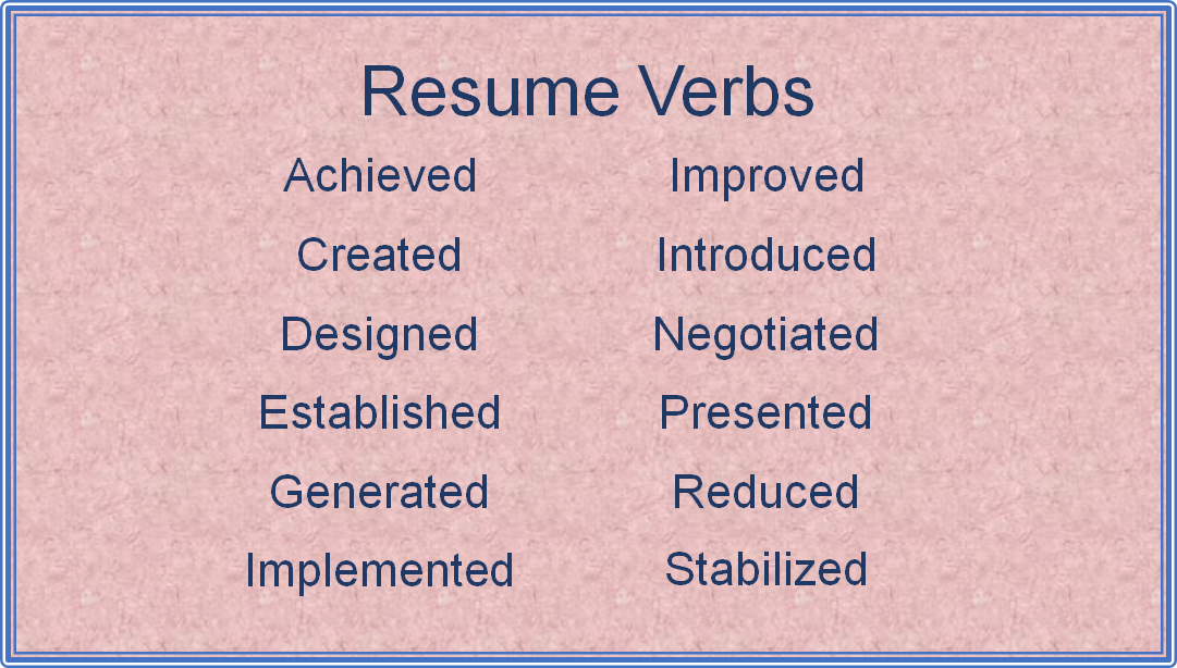 Ideal Resume Verbs  Ideal Resume