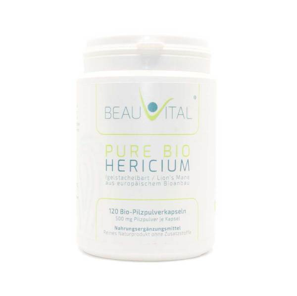 Pure Bio Igelstachelbart Bio Hericium Kapseln von BEAUVITAL